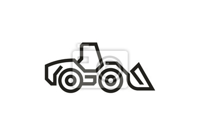 Fahrzeug Icons: Radlader.