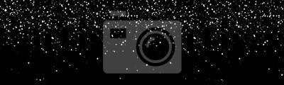 Sticker Fallende Schneeflockenfahne. Winter-Schneefall-Abbildung