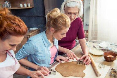 Familie Vorbereitung Lebkuchen Cookies