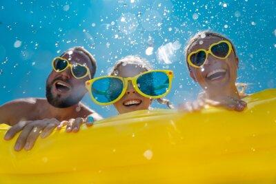 Sticker Family having fun on summer vacation