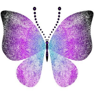 Sticker Fantasie grungy Vintage Schmetterling
