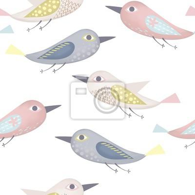 Fantastic birds pattern