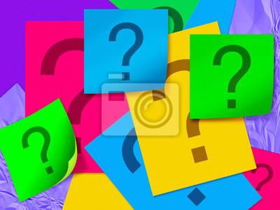 Farbe Blatt Papier mit Fragezeichen