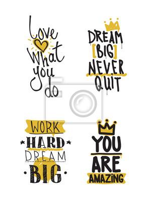 Farbe inspirierend Vektor-Illustration gesetzt, motivierend Zitate