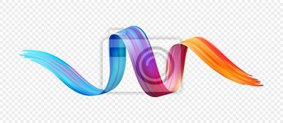 Sticker Farbe Pinselstrich Öl oder Acrylfarbe Design-Element. Vektor-Illustration