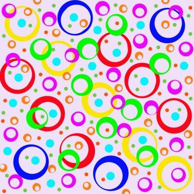 Sticker Farbige Kreise und Ringe, abstrakten Hintergrund. Artwork für cre