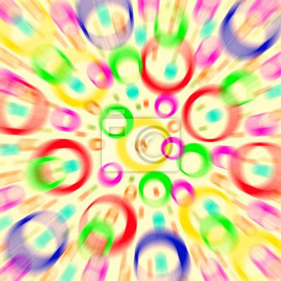 Farbige Kreise und Ringe, abstrakten Hintergrund. Defokussierung filt