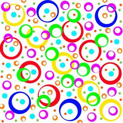 Sticker Farbigen Kreisen und Ringen, abstrakten Hintergrund. Artwork für cre
