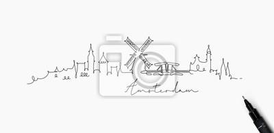 Federlinie Schattenbild Amsterdam