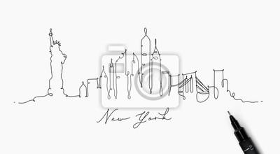 Federlinie Schattenbild New York