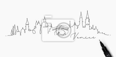 Federlinie Schattenbild Venedig
