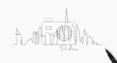 Federlinie Silhouette Dubai