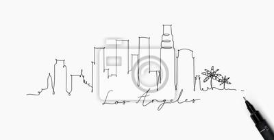 Federlinie Silhouette Los Angeles