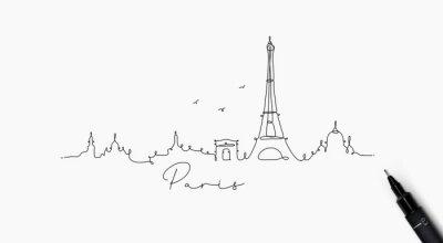 Federlinie Silhouette Paris