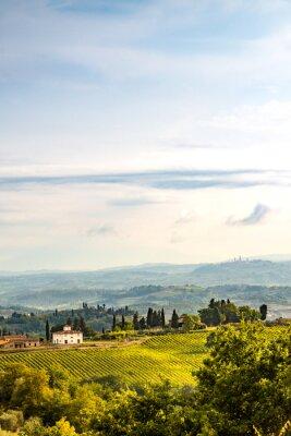 Sticker Felder in der Toskana