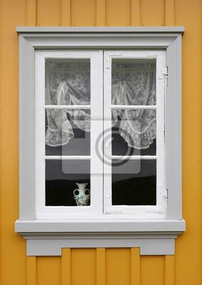 Fenster Mit Sprossen Und Tüllgardine Notebook Sticker Wandsticker