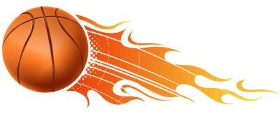 Sticker Feuer Basketball