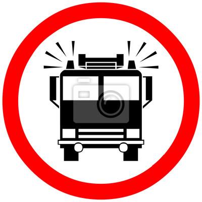 Feuer-motor lkw reservierte weg, passage, kontrolle, checkpoint ...