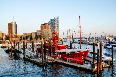Sticker Feuerschiff und Hafencity