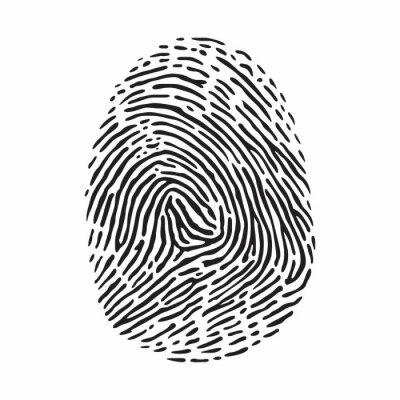 Fingerabdruck Notebook Sticker Wandsticker Vereinfacht