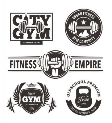 Sticker Fitness Embleme Set
