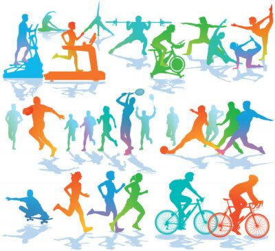 Sticker Fitness und Sport