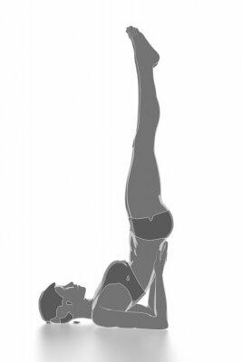 Sticker Fitness und Stretching auf weiß isoliert - warm up Konzept
