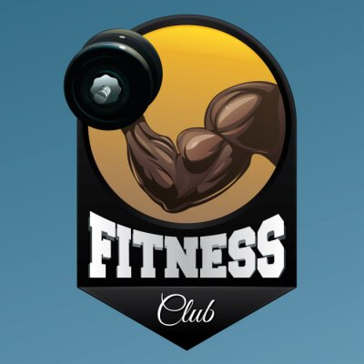 Sticker Fitnessclub-Emblemabbildung