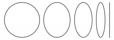 Sticker Five Geometric Shapes, vintage illustration.