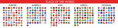 Sticker Flag of world. Vector icons