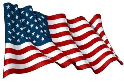 Sticker Flagge der USA
