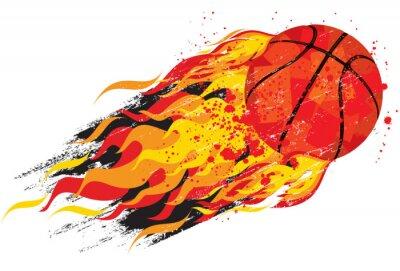 Sticker Flaming basketball