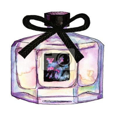 Flasche Parfüm Aquarell