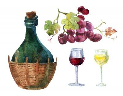 Sticker Flaschen Weinstock