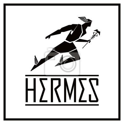 Fliegende Hermes-Logo. Vektorzeichnung