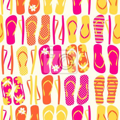 Flip-Flops Seamless Pattern