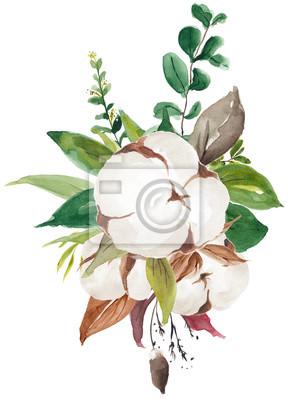 Floral Foliage Wreath, Floral Bouquet, Flower Ribbon, Sprig, Blossom