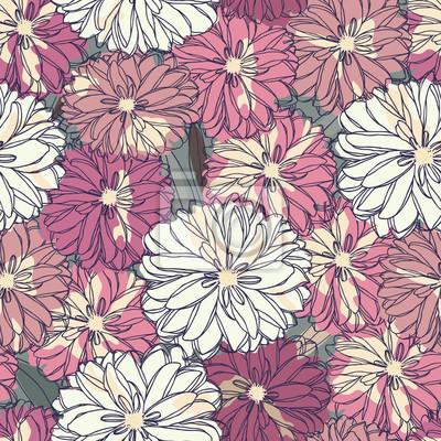 Floral nahtlose Muster. Blumenstrauß aus Rosen