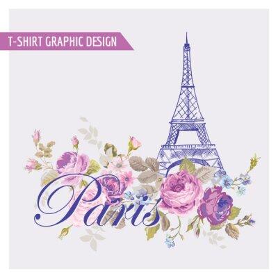 Sticker Floral Paris Grafikdesign - für T-shirt, mode, Drucke