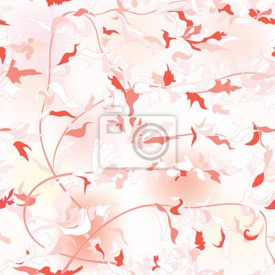 Sticker Floral seamless background. Flower pattern.