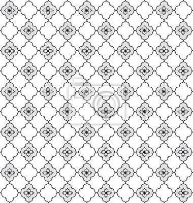 Sticker Floral Textur. Abstrakte nahtlose Hintergrund. Geometrische Muster