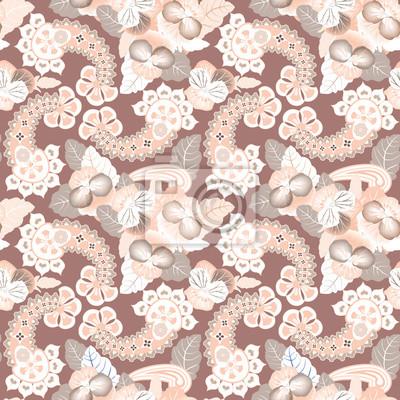 Sticker Floral Textur. Flower nahtlosen Hintergrund. Geometrische Muster