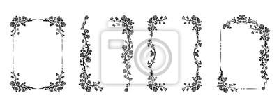 Sticker flourish design set