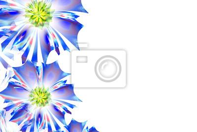 Flower background. Blau-Palette. Computer generierte Grafiken.