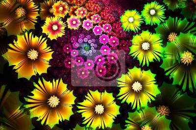 Flower background. Computer generierte Grafiken.
