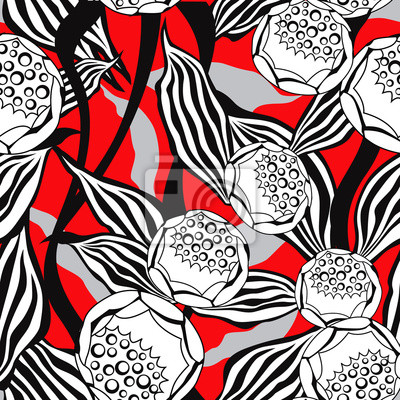 Sticker Flower pattern. Tiled texture. Floral seamless background.