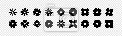 Sticker Flowers vector icons. Flower icon. Flowers isolated on transparent background. Flowers in modern simple flat style. Eps10