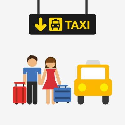 Sticker Flughafen-Terminal-Design