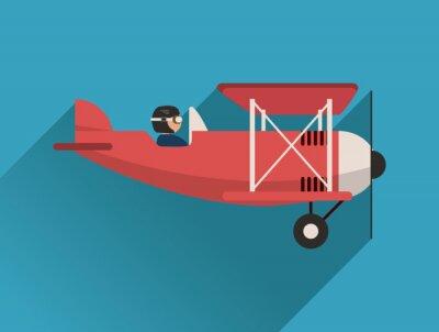 Sticker Flugzeug-Symbol-Design
