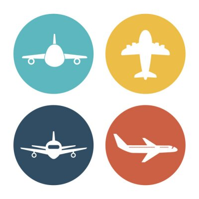 Sticker Flugzeug und Reisen